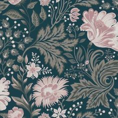 The wallpaper Ava - from Sandberg is a wallpaper with the dimensions . The wallpaper Ava - belongs to the popular wallpaper collection Kubel Kids w Dark Blue Wallpaper, M Wallpaper, Nursery Wallpaper, Blue Wallpapers, Flower Wallpaper, Designer Wallpaper, Pattern Wallpaper, Wallpaper Designs, Sandberg Wallpaper