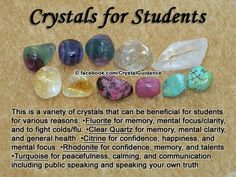 Crystals for students