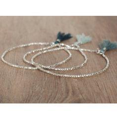 Delicate bracelet pure silver and tassel! #bloomarine #tassel #bracelet #jewelry…
