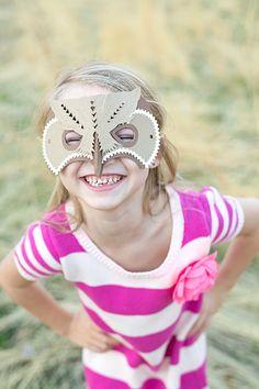 DIY Owl Mask Pinned by www.myowlbarn.com