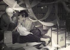 Mushishi | Artland | Yuki Urushibara / Ginko and Karibusa Tanyuu / 「笔之海」/「hunsay」のイラスト [pixiv]