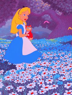 I think I might be alice in wonderland, a daydreamer that has a cat and hangs out under trees and in flowers <3