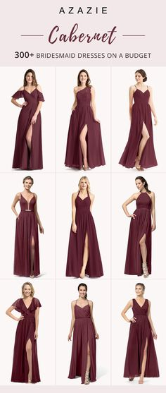 Shop the latest fashionable dresses styles in colors! wedding weddinginspiration bridesmaids bridesmaiddress bridalparty maidofhonor weddingideas weddingcolors azazie is part of Wine bridesmaid dresses - Wine Color Bridesmaid Dress, Affordable Bridesmaid Dresses, Bridesmaid Dresses Online, Azazie Bridesmaid Dresses, Azazie Dresses, Burgundy Bridesmaid Dresses Long, Dresses Dresses, Bridesmaids And Groomsmen, Wedding Bridesmaids