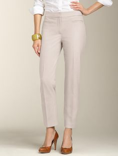 Talbots - Heritage Fit Lindsey Zip Ankle Pant | Pants | Woman