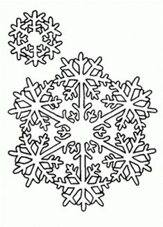 Snowflakes Coloring Page   Free Snowflakes Online Coloring   Winter ...