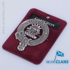Cameron Clan Crest Badge. Free Worldwide Shipping Available