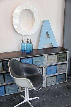 Industrial style - love this idea for my son's room.