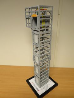 3d printed model of an elevator