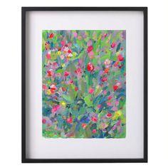 Modern original abstract spring garden green and by garimadesigns, $70.00