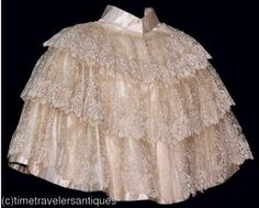 Ivory Satin and Lace cape