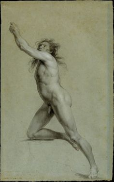 Cave to Canvas, John Trumbull, Study from Life: Nude Male, c....