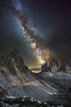 Milky Way over Lavaredo by Luca  Cruciani on 500px