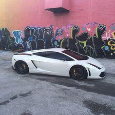 """@KennyGiordano's Satin White #Lamborghini Gallardo Rolling On #RennenWheels • Follow @KennyGiordano"""