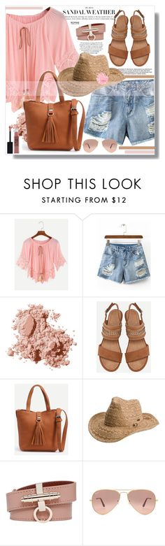 """""""Pink and camel"""" by jenny007-281 ❤ liked on Polyvore featuring Bobbi Brown Cosmetics, Roxy, Givenchy, Ray-Ban and Maybelline"""