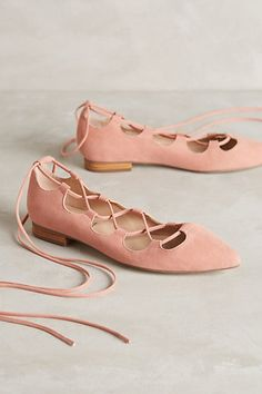 Billy Ella Lace-Up Flats #anthropologie