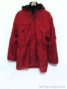 Men's Red Parka $38 Red Parka, Winter Wear, Raincoat, Sleeves, How To Wear, Jackets, Men, Accessories, Fashion