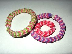 Rainbow Loom Hexafish Bracelet: How to Make it Step with 4 Pin Design & only break 1 rubberband