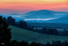 ....6:00 am...and heading down Forest Road 75 into Grant County, below Dolly Sods Wilderness Rick Burgess Photography
