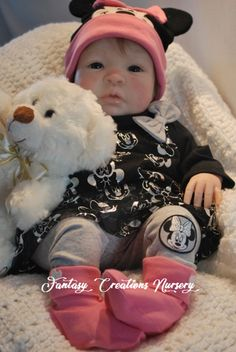 """Reborn Babies for Sale, Reborn Babies, Reborn Dolls.  Shyann is 19"""" and has a soft body and 3/4 arms and 3/4 legs.  She wears newborn and size 0 shoe."""
