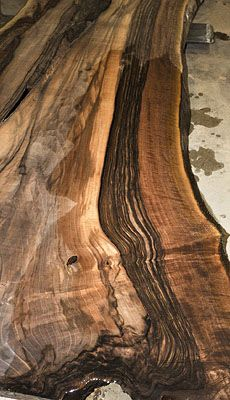 """Persian walnut, also known sometimes as English walnut  -- here, """"spider webbed"""" Persian Walnut ~ gorgeous wood!"""