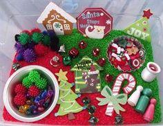 Christmas Sensory Bin and Preschool Lesson Plan