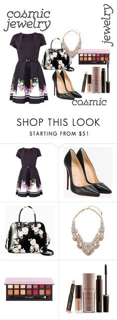 """""""Untitled #54"""" by amela83 ❤ liked on Polyvore featuring Ted Baker, Christian Louboutin, Kate Spade, Chloe + Isabel and Laura Mercier"""