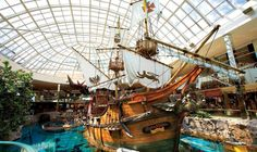 West Edmonton Mall in Alberta is home to more than 800 stores and services including a mall tour for groups, Groups Adventure Challenge, mini golf, and a roller coaster ride! Canadian Travel, Canadian Rockies, Alberta Canada, Amusement Park, Family Travel, Family Trips, Night Life, Trip Advisor, North America