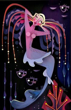 Brittney Lee, Electra - Splish Splash, Nucleus Gallery Paper Illustration, Graphic Illustration, Brittney Lee, Disney Doodles, Cut Out Art, Japan Crafts, Disney Concept Art, 3d Paper Crafts, Paper Artwork