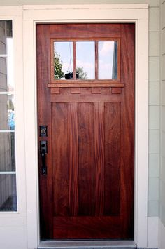 This door is awesome...and I think we could even pull it off on your 70s split level.