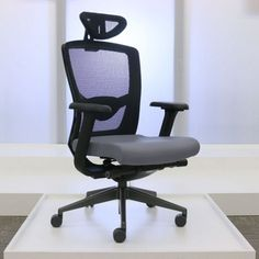 Elan High-Back Mesh Chair with Headrest- Traditional Office Chair | National Business Furniture