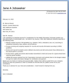 cover letter health information technician - What Should A Cover Letter Look Like