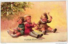 5 Postcards Wally Fialkowska Artist Signed & Nrs ARBRE Noël Christmas Tree candles PRESENTS CA 1194-462 Pub.Mouse Frölic