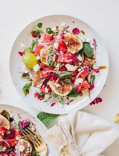 Salade de Figues, Pastèque et Feta