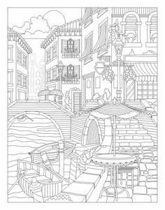 Beautiful Venice coloring page