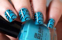 nail art ____ Love the Blue