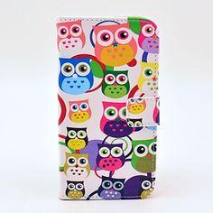 Värikäs pöllökuvio PU Nahka Pehmeä laukku ja korttipaikka Samsung Galaxy S5 I9600 – EUR € 16.99