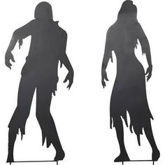 metal zombie silhouette yard stakes
