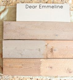 Dear Emmeline: Weathered Wood Techniques {Oxidation and Stain}