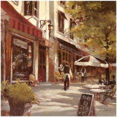 Boulevard Cafe Impressão artística