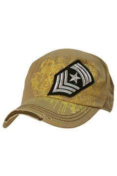 0fb124900b4 Cadet Cap Hat With Soldier Rank Patch
