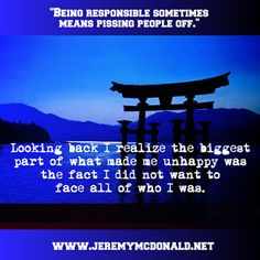 """Jeremy E. McDonald: """"Being responsible sometimes means pissing people ..."""