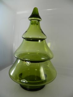 Tier Hristmas Tree Glass Jar