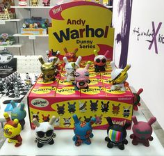 FIRST LOOK! Andy Warhol x Kidrobot Dunny Series. This is your first look at production samples from the MSA Show in Atlanta! #Kidrobot #AndyWarhol #Dunny by kidrobot