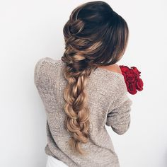 Hairstyles 100 Ridiculously Awesome Braided Hairstyles To Inspire You,Braids are a sensible and delightful addition to any coiffure. They provide texture, assist and elegance and may be achieved in a wide range of method. Boho Hairstyles, Pretty Hairstyles, Unique Hairstyles, Look Girl, Hair Images, Cornrows, Hair Day, Gorgeous Hair, Hair Looks