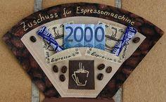 Geldgeschenk als Zuschuss zur Espressomaschine - creadoo.com