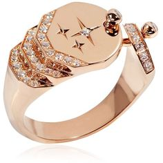 Tina Craig X Nouvel Heritage Women Sparkles Diamond Ring ($5,120) ❤ liked on Polyvore featuring jewelry, rings, rose gold, diamond jewelry, sparkle jewelry, sparkly rings, round cut diamond rings and diamond jewellery