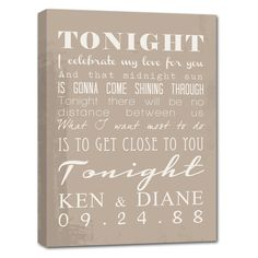 Vintage word art sign for the happy couple.