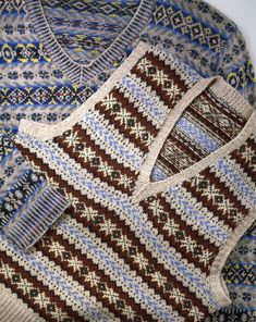 Fair Isle pullover, hand knitted wool, Shetlands, ca. 1931 | V&A Search the Collections