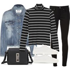 A fashion look from October 2015 featuring Monki tops, Acne Studios jackets and Burberry jeans. Browse and shop related looks.