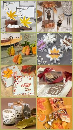 Fall Leaf Themed Wedding Favors from HotRef.com #fallwedding